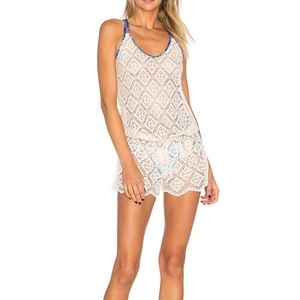 Maaji Crystal Deck Lace Cover-Up Romper
